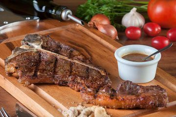 foto do t-bone com fralda do meu cantinho churrascaria